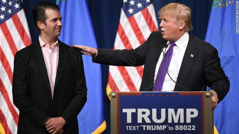 Trump on his son: 'I applaud his transparency'