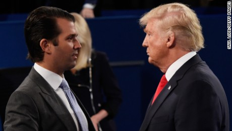 Trump defends embattled son, calls Russia controversy a 'witch hunt'