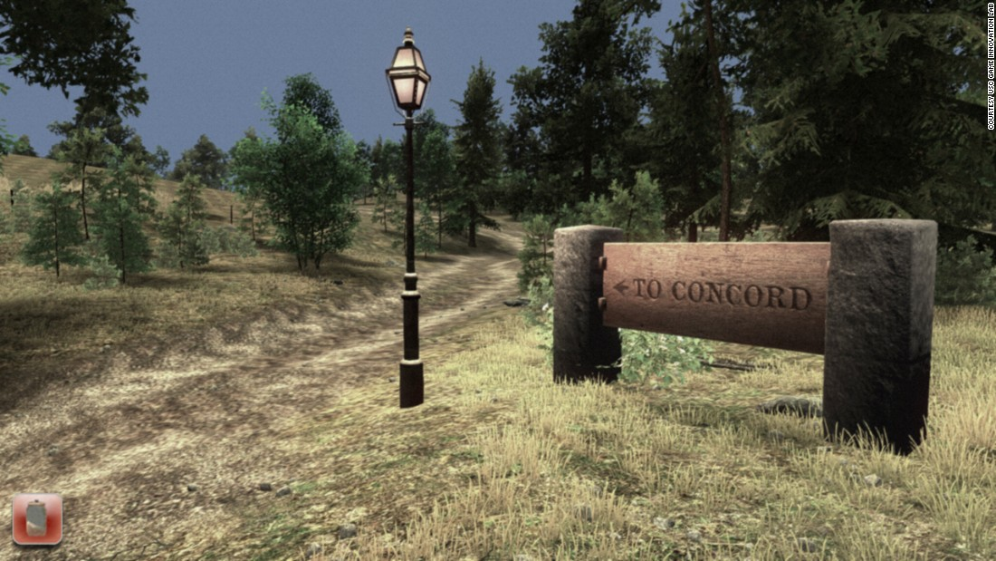 In the game, as in Thoreau's life, walking to Concord is needed to get mail and supplies.
