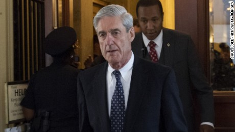 Former FBI Director Robert Mueller, special counsel on the Russian investigation, leaves the US Capitol building following a meeting with members of the US Senate Judiciary Committee on June 21, 2017.