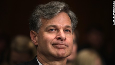 WASHINGTON, DC - JULY 12:  FBI director nominee Christopher Wray prespares to testify during his confirmation hearing before the Senate Judiciary Committee July 12, 2017 on Capitol Hill in Washington, DC. If confirmed, Wray will fill the position that has been left behind by former director James Comey who was fired by President Donald Trump about two months ago.  (Photo by Alex Wong/Getty Images)