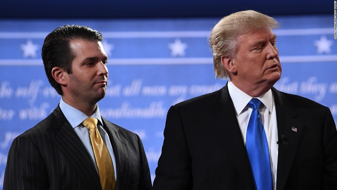 Trump Jr. tight-lipped on talk with President
