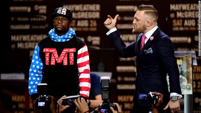 Mayweather, McGregor trade insults before fight