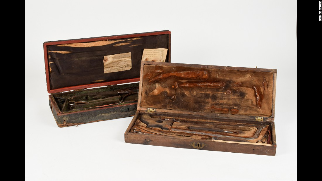 The two amputation kits were sold by Boston-based RR Auction.