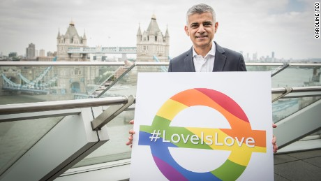 London Mayor Sadiq Khan is a vocal supporter of LGBTI rights.