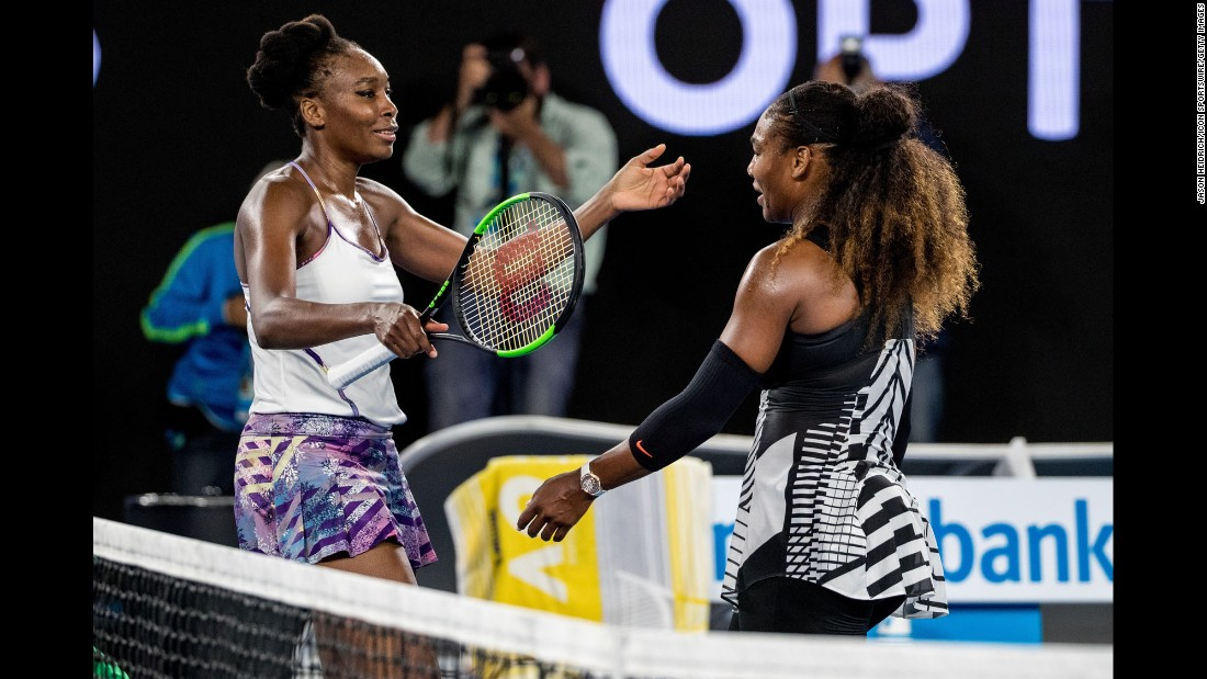 The sisters played against each other in the final of this year's Australian Open, with Serena coming out on top to break the Open-era record for most Grand Slam singles titles (23). Over the years, the sisters have faced off in nine Grand Slam finals, with Serena winning seven of them.