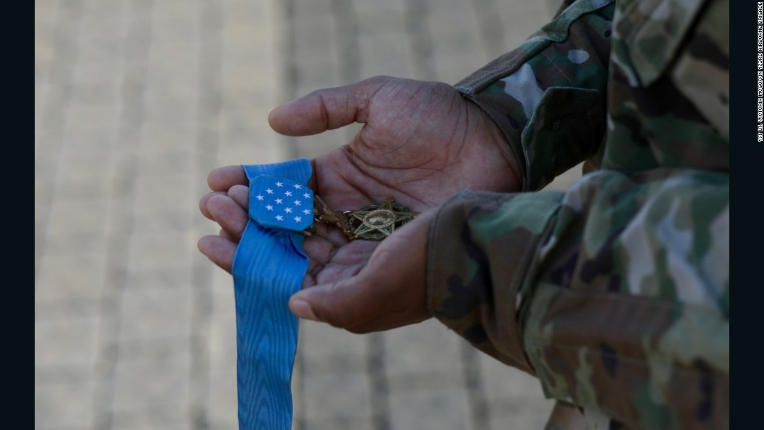Giunta's Medal of Honor is held.