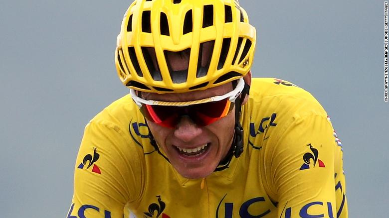 Cycling pro Chris Froome claims innocence after failing drug test