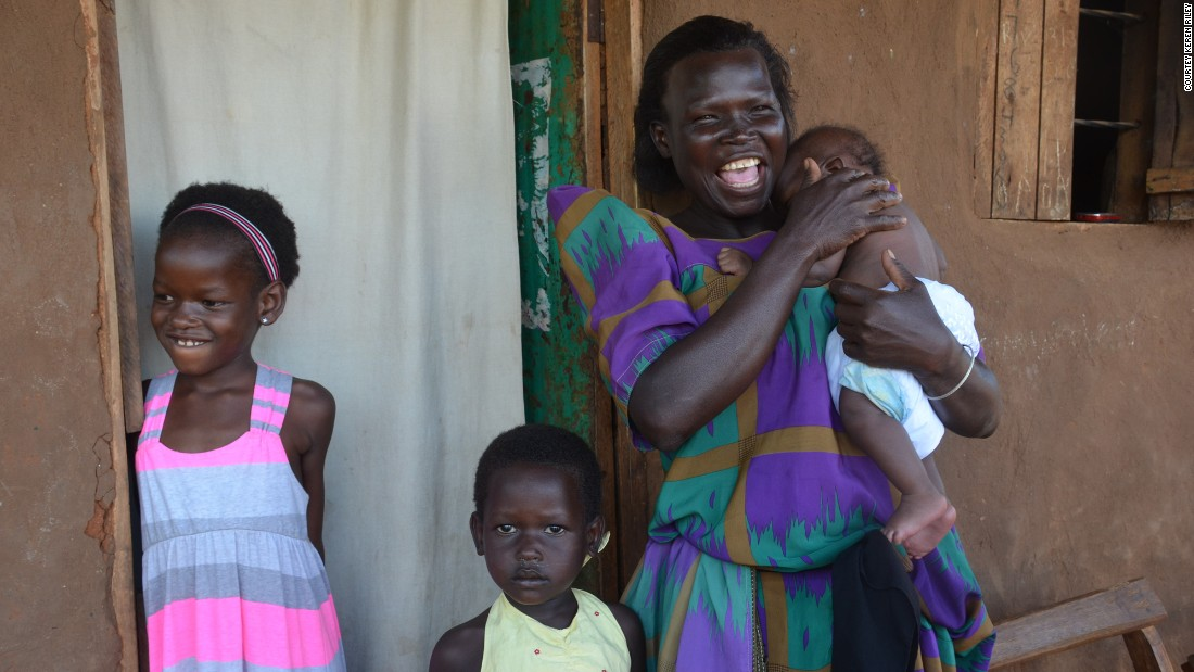 "Mata was reunited with her mother in their Ugandan village. ""I had not realized that I had gone through a process to take away my parental rights completely,"" her mother told a Ugandan court."