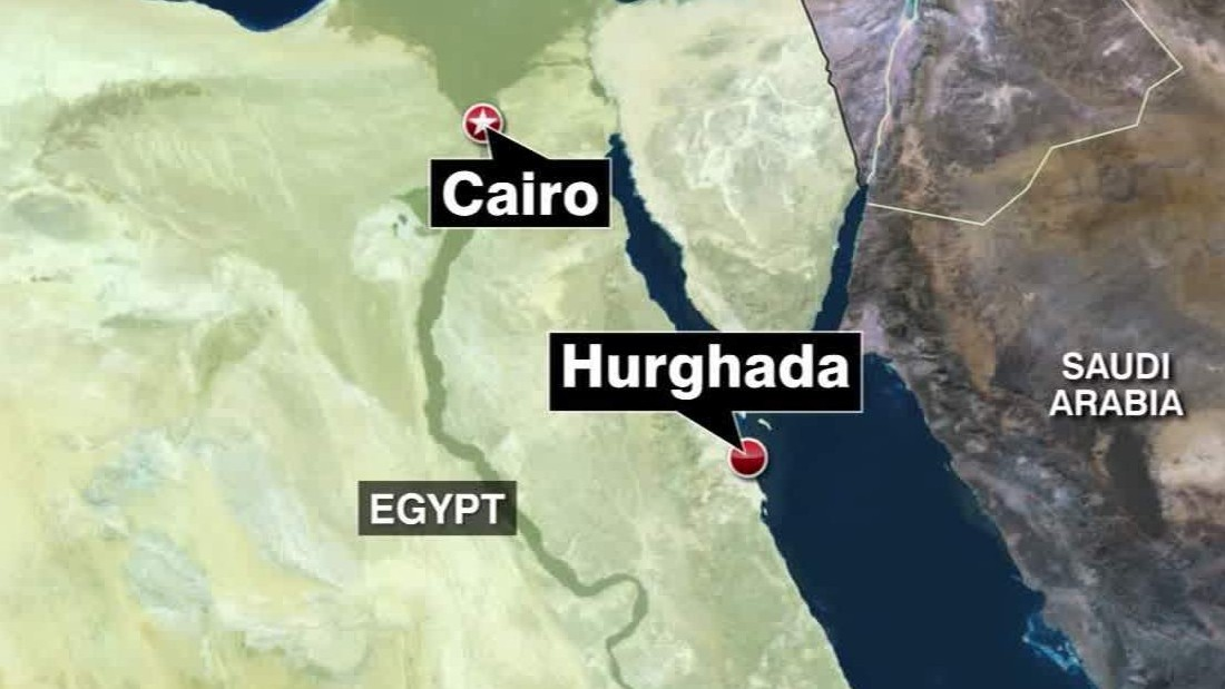 Egypt Attack Germans Confirmed Killed In Hurghada CNN - Map of egypt beach resorts