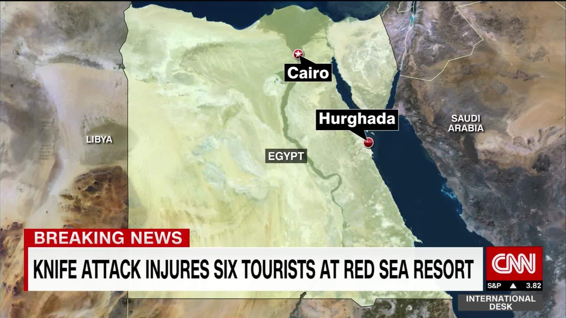 Tourists Attacked At Egyptian Beach Resort CNN Video - Map of egypt beach resorts
