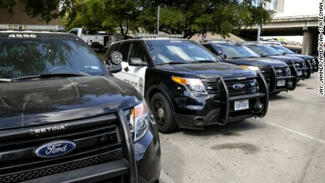 Cop cars pulled over carbon monoxide fears