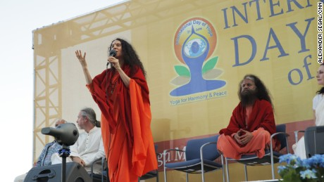 """Yoga,"" which translates to ""union,"" is ""the union of my breath to my body, the union of the self to the divine,"" Sadhvi Bhagawati Saraswati said."