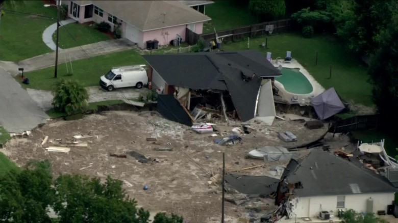 Sinkhole Swallows Homes In Florida Cnn