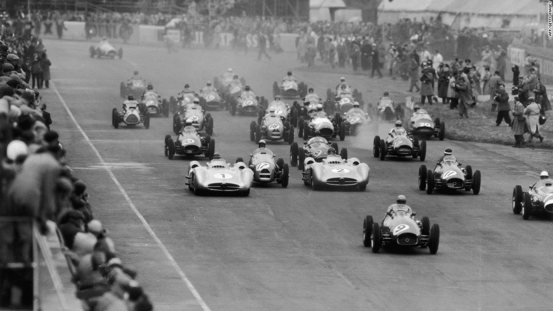 In 1950, Silverstone (pictured here in 1953) became the first circuit to host a Formula One race.