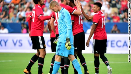 LA Galaxy were beaten 5-2 by Manchester United in a friendly on July 15.