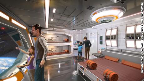 Rendu d'un futur hôtel prévu pour Disney World en Floride, où les visiteurs pourront vivre dans la galaxie Star Wars jour et nuit.