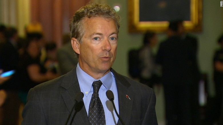 Sen. Rand Paul speaks on Capitol Hill.