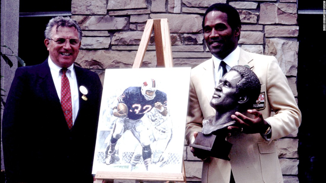 Coach Lou Sabin and O.J. Simpson