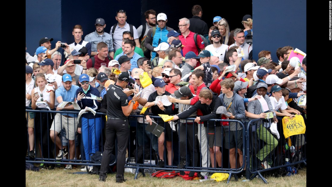 Defending champion Henrik Stenson won last year after an extraordinary battle with Phil Mickelson. The Swede's autograph has been a must-have for many this week.