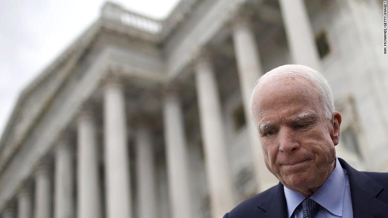 Did McCain mock Trump's draft deferments?