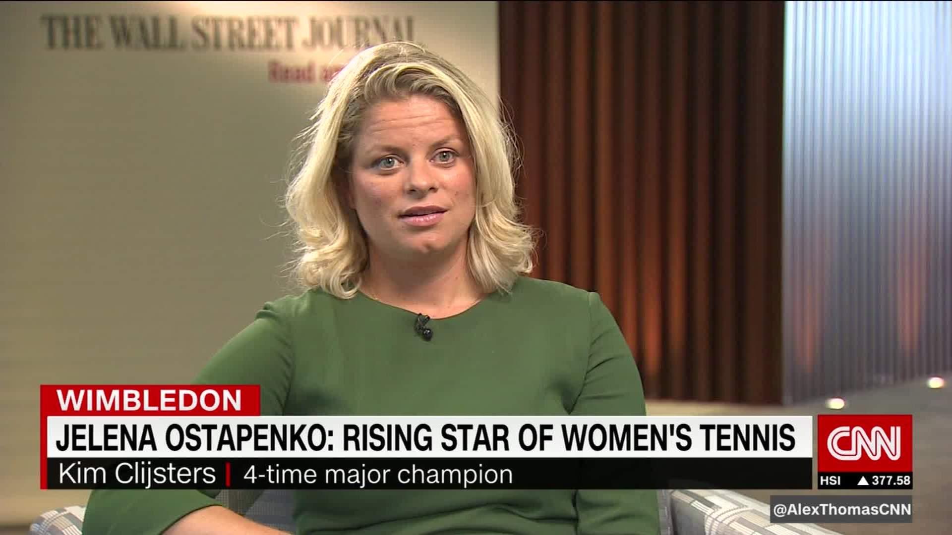Kim Clijsters praises rising star Ostapenko CNN Video