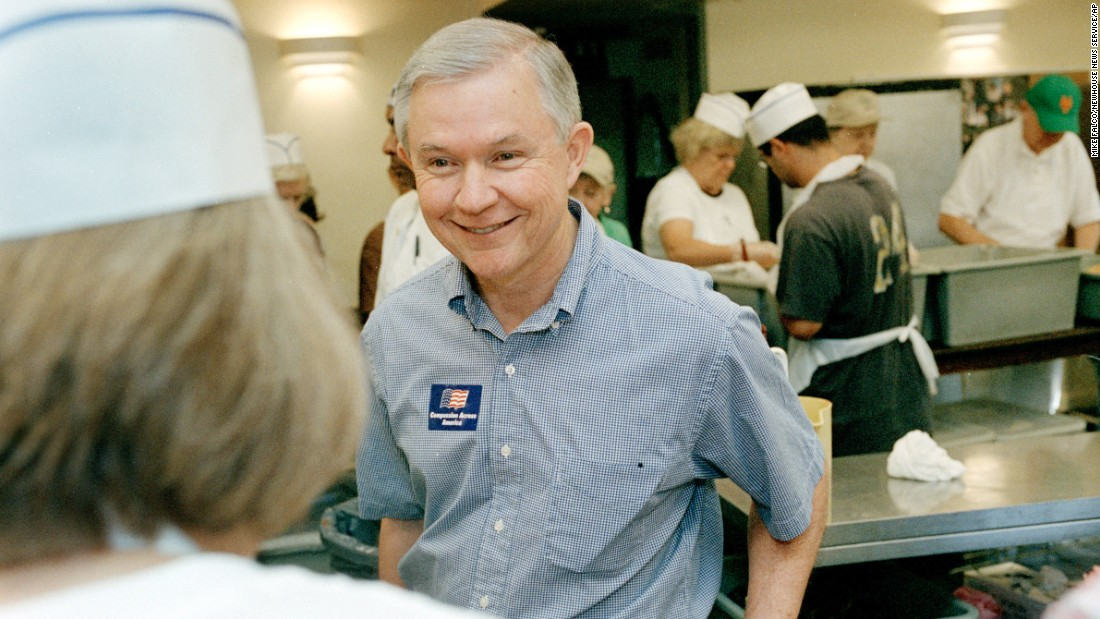 Sessions checks in on some Alabama delegates to the 2004 GOP presidential nominating convention in New York. The delegates took time out from the convention to volunteer at the Holy Apostle Soup Kitchen.