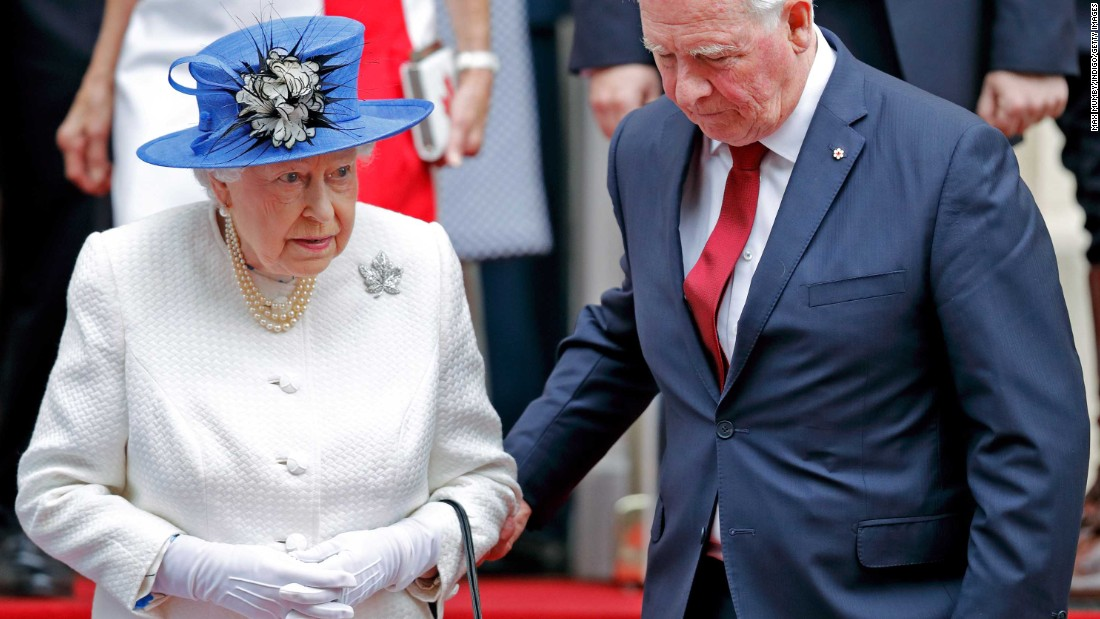 Holding the Queen's elbow: A royal blunder