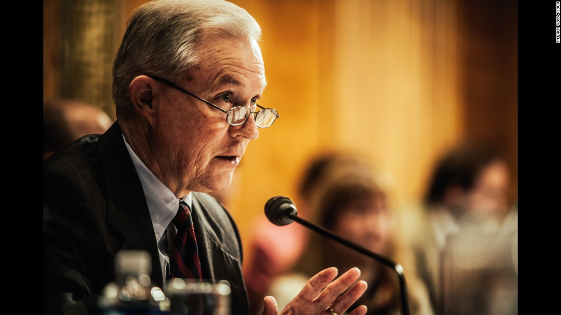 Sessions during a congressional hearing in 2008. He served on the Senate Budget, Judiciary, Armed Services, and Environment and Public Works committees.