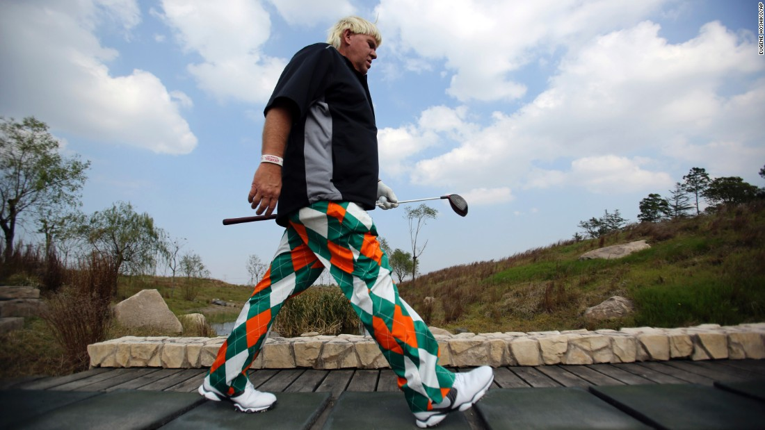 Renowned for his length off the tee, Daly went on to win the 1995 British Open at St Andrews, beating Italy's Costantino Rocca in a four-hole playoff.