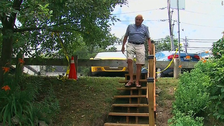 Man builds stairs for fraction of city cost