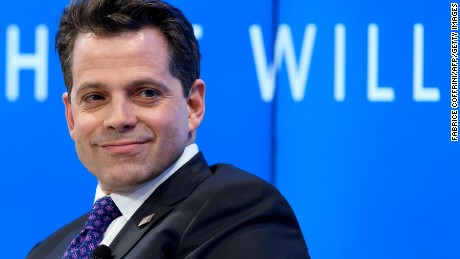 "Assistant to the US President Donald Trump Anthony Scaramucci takes part in a meeting on the theme ""Monetary Policy: Where Will Things Land?"" on the opening day of the World Economic Forum, on January 17, 2017 in Davos."