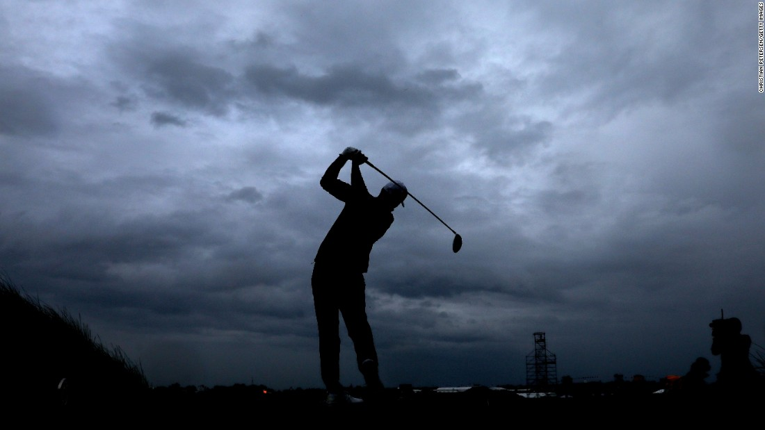 Koepka played in the worst of the afternoon rain but finished in a tie for third.