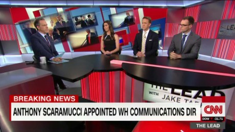 lead panel 1 spicer scaramucci white house shakeup reaction tapper _00025502