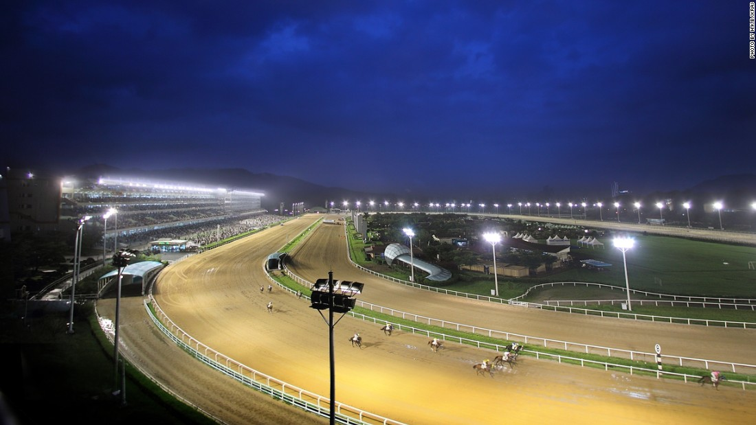 One venue, LetsRun Park Seoul, boasts towering grandstands called Happy Ville and Lucky Ville capable of accommodating 77,000 people.