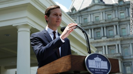 Senior Advisor to the President Jared Kushner makes a statement from at the White House after being interviewed by the Senate Intelligence Committee in Washington on July 24, 2017.