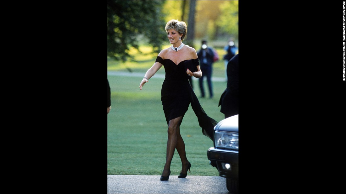 Diana arrives at the Serpentine Gallery in London in June 1994.