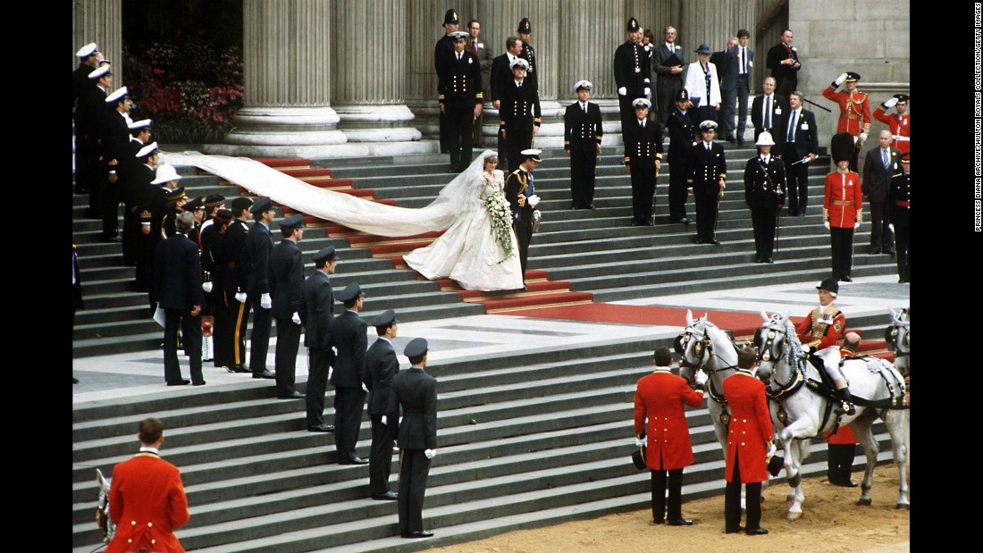 The royal wedding was held July 29, 1981, at St. Paul's Cathedral in London. It was estimated that more than 700 million people watched the ceremony on television.