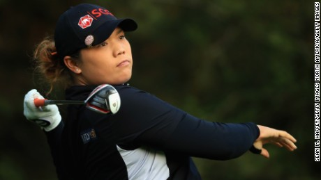 MEXICO CITY, MEXICO - MAY 07:  Ariya Jutanugarn of Thailand hits a shot on the second tee during the final round of the Citibanamex Lorena Ochoa Match Play Presented by Aeromexico and Delta at Club De Golf Mexico  on May 7, 2017 in Mexico City, Mexico.  (Photo by Sean M. Haffey/Getty Images)