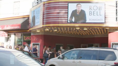 While most churches struggle to attract people, Rob Bell had fans lining up two hours before his show in Atlanta.
