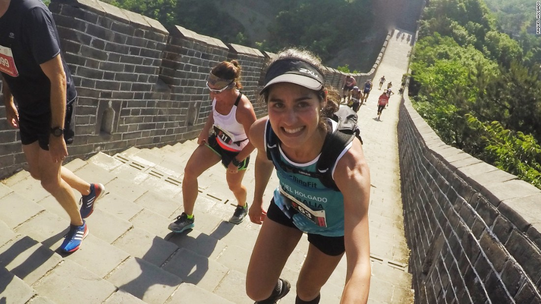Australian fitness instructor Raquel Holgado competed in the 2017 Great Wall Marathon.