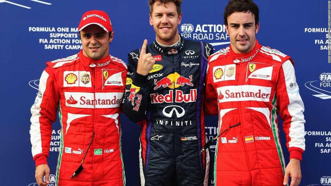 Despite numerous race wins, a championship victory continued to allude Alonso during his Ferrari days. He finished runner-up three times to Sebastian Vettel, then at Red Bull.