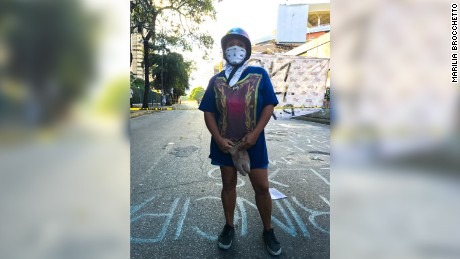 Protesters -- many wearing masks -- have taken to the streets in Venezuela.