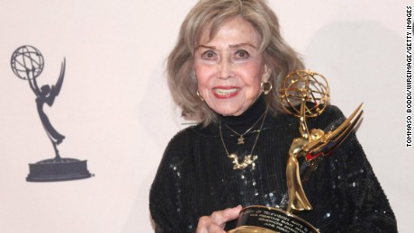 June Foray, at the Emmy Awards ceremony in 2013.