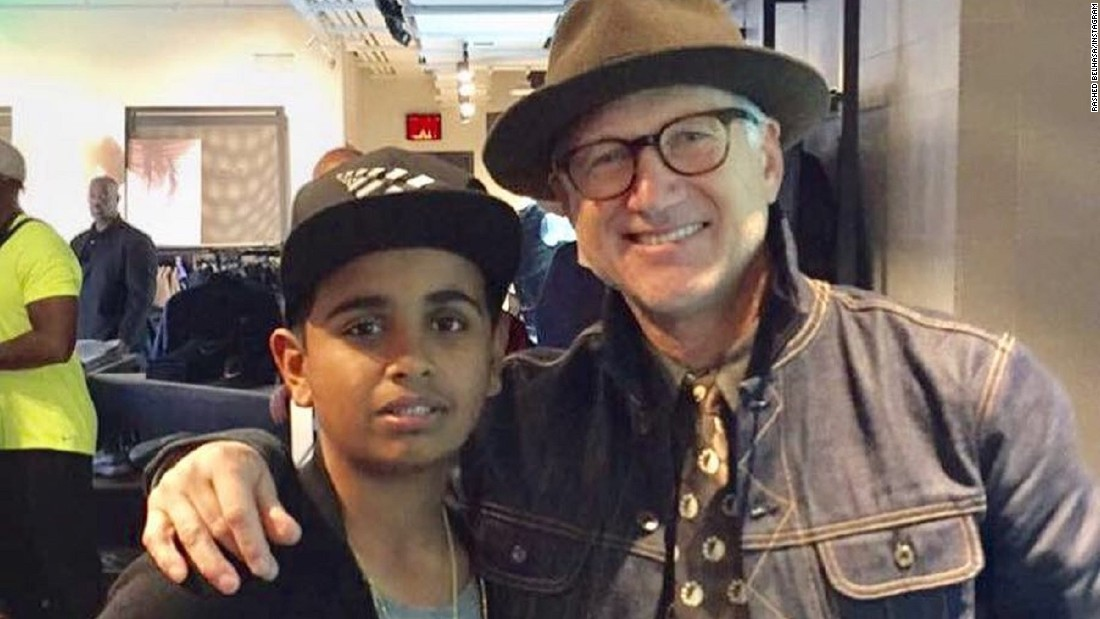 Inventor of some of Nike's most iconic Air Jordans and the Air Max 1, Tinker Hatfield poses for a photo. Belhasa's YouTube videos profile many of the designer's key sneakers. The vlogger has been known to color-coordinate his sneakers with supercars featured in videos.