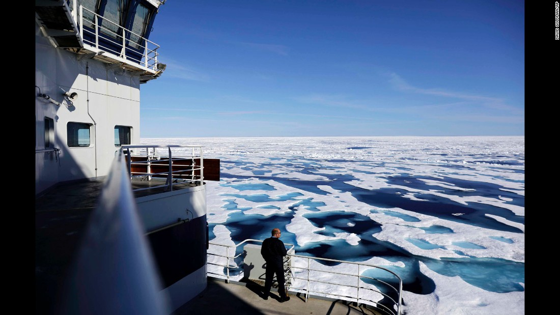 "Canadian Coast Guard Capt. Victor Gronmyr looks out over the ice covering the Victoria Strait on Saturday, July 22, as the Finnish icebreaker MSV Nordica traverses the Northwest Passage through the Canadian Arctic Archipelago. <a href=""http://www.cnn.com/2017/07/21/world/gallery/week-in-photos-0721/index.html"" target=""_blank"">See last week in 23 photos</a>"