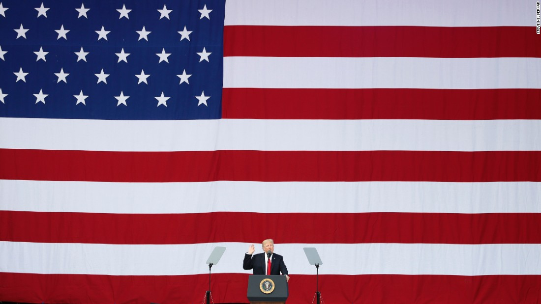"US President Donald Trump speaks Monday, July 24, at the National Boy Scout Jamboree in Glen Jean, West Virginia. <a href=""http://www.cnn.com/2017/07/24/politics/donald-trumps-political-jamboree/index.html"" target=""_blank"">Trump turned the event into a campaign-style rally,</a> raging against the Washington ""cesspool,"" slamming the ""fake news"" media and mocking Barack Obama and Hillary Clinton in his speech. He also offered some uplifting stories and implored the young scouts to keep working and find a career they loved."