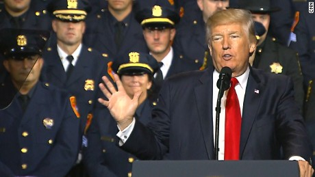 Trump's reckless words aren't the support law enforcement needs
