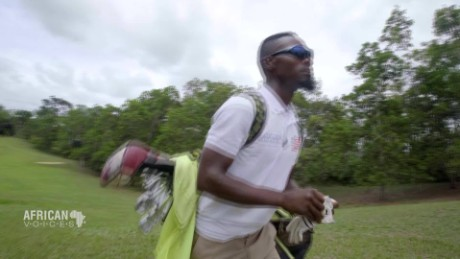 African Voices Liberian golfer swings to break barriers C_00000704