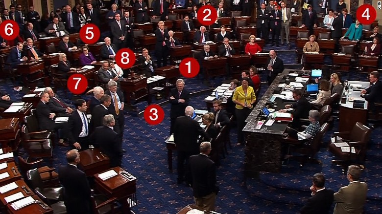 19 seconds of drama: McCain's vote